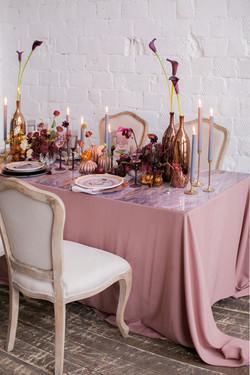 お祝いテーブルの装飾