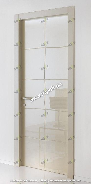 Πόρτες Εσωτερικού Χώρου Λάκα Λευκή Gloss Τετράγωνα LOFT