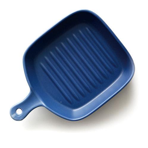 瑞典【GREEGREEN】方形單柄陶瓷烤盤 6吋(藏藍)
