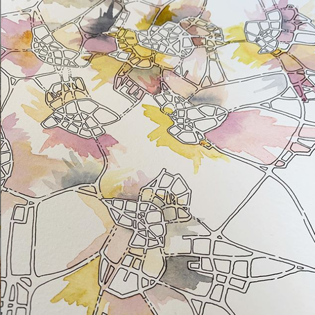 @emilymap: instagram exhibition review of biology-inspired art maps