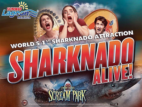 Sharknado Alive! Scream Park Sunway Lagoon