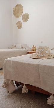 Twin Room with shared bath surf hotel Tamraght, Wave & Dance Morocco