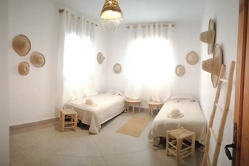 Twin Room with private bath surf house Tamraght - Wave & Dance Morocco