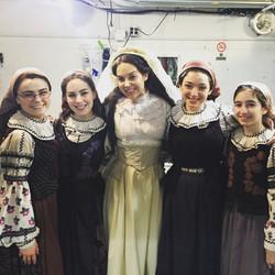 Backstage at Fiddler