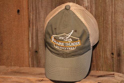 Platinum Series Olive, Logo Mesh Cap