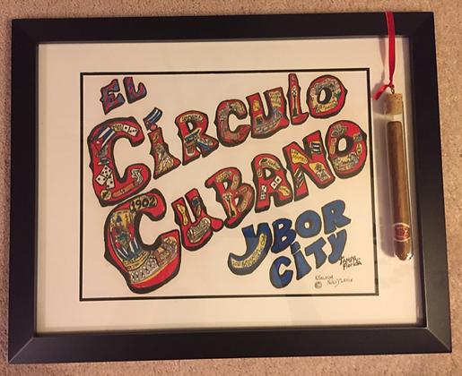 El Círculo Cubano, Ybor City print by artist Karen Niles Lavin - PRINT & MORE