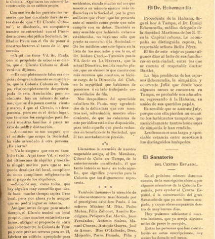 """p. 59, from """"La Revista"""", Tampa, Ybor City, October 18, 1903 (Courtesy of USF Special Collection Archives)"""