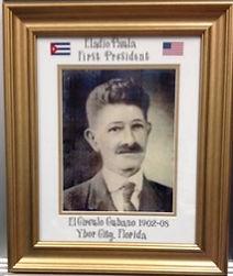 Framed picture of Eladio Paula