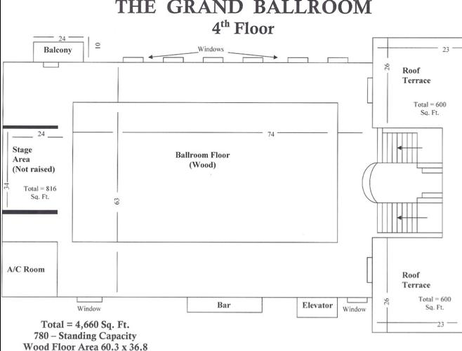 Grand Ballroom; 4th Floor