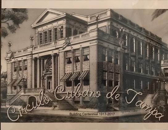 "El Círculo Cubano ""Building Centennial"" print by artist Frank Saso - PRINT ONLY"
