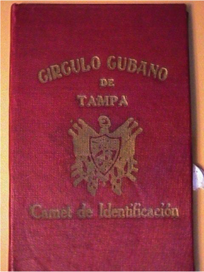 Front of the ID Carnet