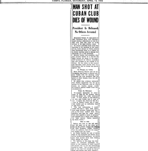 Tampa Tribune April 14, 1934