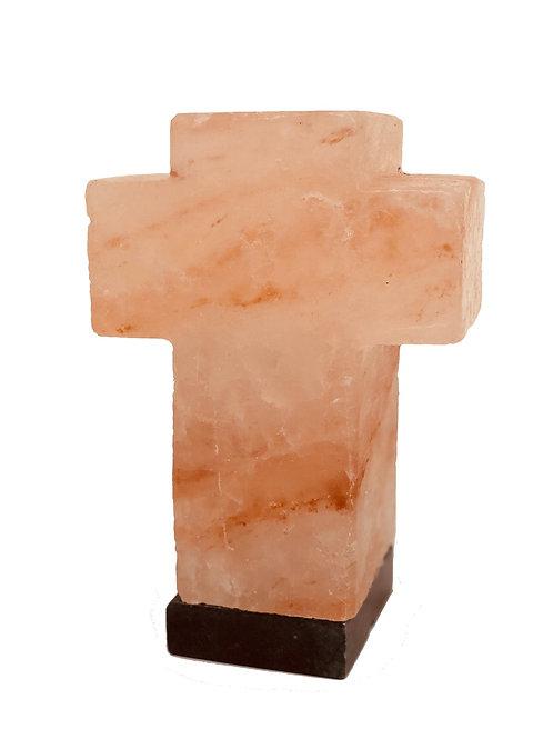 Himalayan Carved Salt Lamp~ Cross