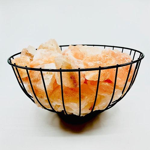 Himalayan Salt Lamp~ Caged Fire Bowl