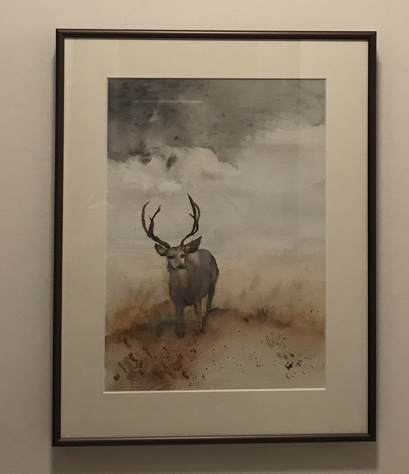 Deer on a Stormy Day
