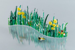 Fused Glass Curved Meadow