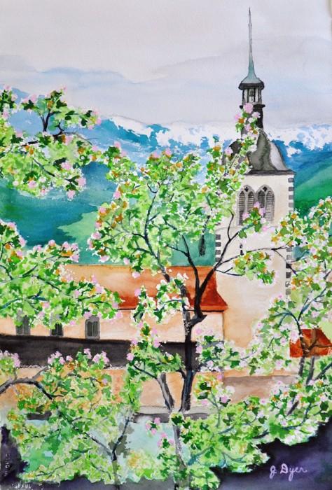 Swiss Church Steeple