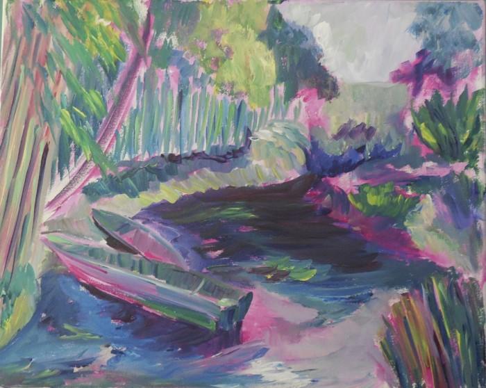 Boats In Monet's Garden