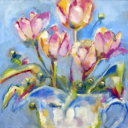 Tulips and Hypericum