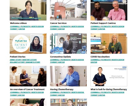 There are now over 50 unique cancer information patient videos live on MySunrise !