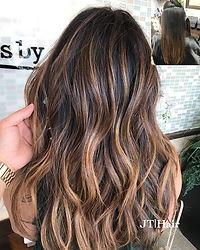Caramel balayage _Hair _ _virgin hair wi