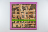 Still Life With Green Line  carved wood  120x120x5cm