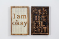 I am Okay, Way the Hell Not? (diptych) 48x30x4cm each