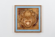 Sometimes i Feel Itchy Inside my Head So I Think of Sanding Paper Carved wood, epoxy 53x43x5cm