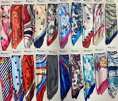 Pañuelos de seda 50x50cm c/u