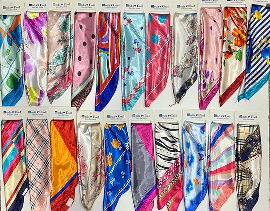 Pañuelos de seda 12×$1600  50x50 cm