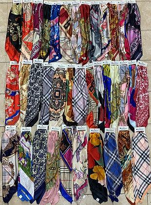 Pañuelos de seda 90x90 c/u