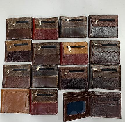 Billeteras de cuero con cierre