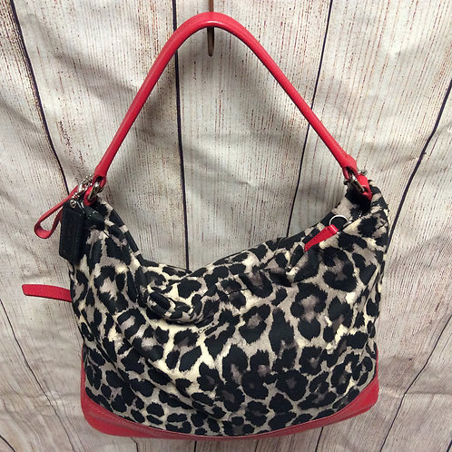 Coach Ocelot Hobo Handbag