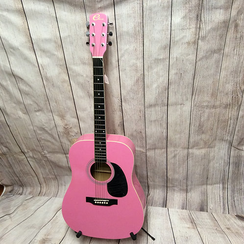 Bubble Gum Pink Accoustic Guitar