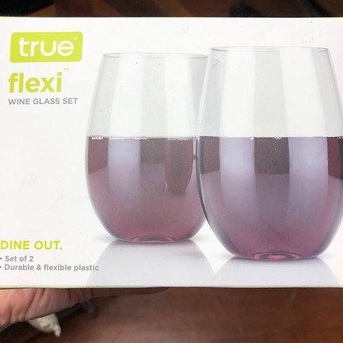Plastic and flexible wine glasses