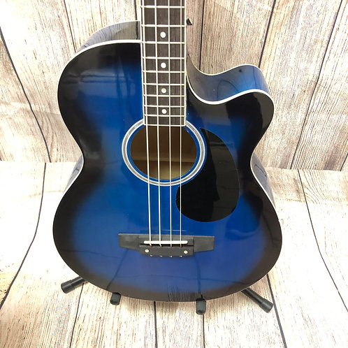 Acoustic Electric Bass Guitar with amp and case