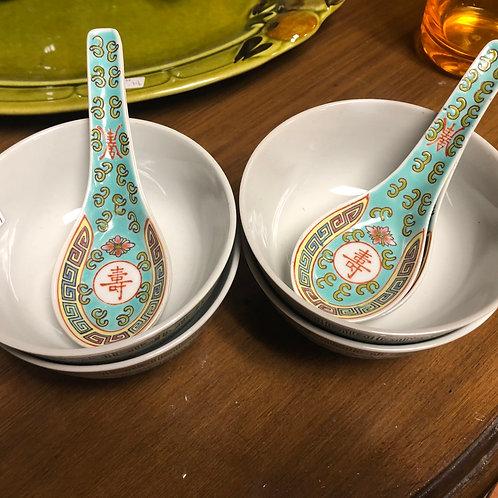 Soup Bowls & Spoons
