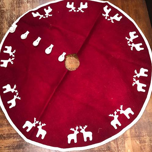 Vintage Felt Christmas Tree Skirt - Mint!
