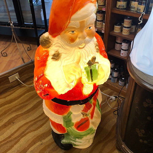 Vintage Light Up Santa