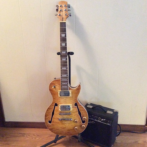 Hollow Body Les Paul Style Guitar