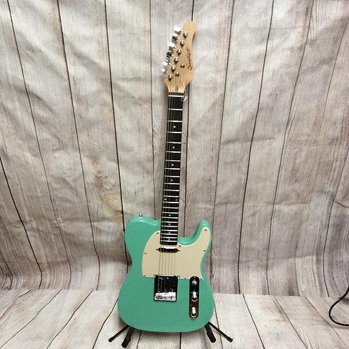 "Beautiful Teal Blue Green ""Tele"" Electric Guitar"