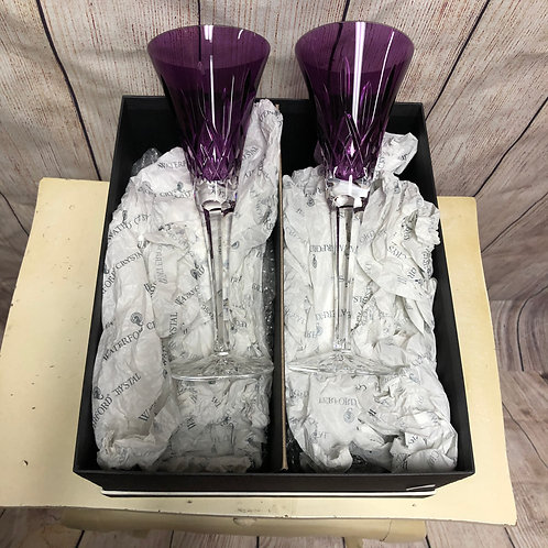 Waterford Crystal Amethyst Champagne Flutes