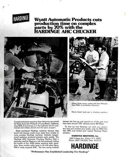 Wyatt Precision Machine History