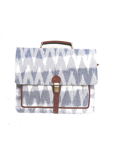Vegan Leather and Multi Grey Ikay Laptop Bag
