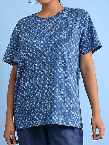 Dabu Printed Indigo Organic Dye T-shirt