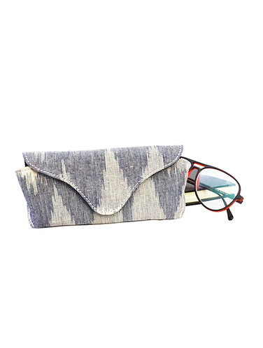 Multi Grey Ikat Weave Spectacles Case