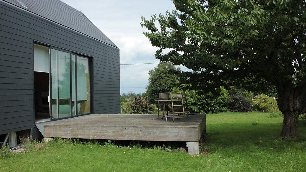 Maison ossature bois -    (27210) Berville-sur-Mer