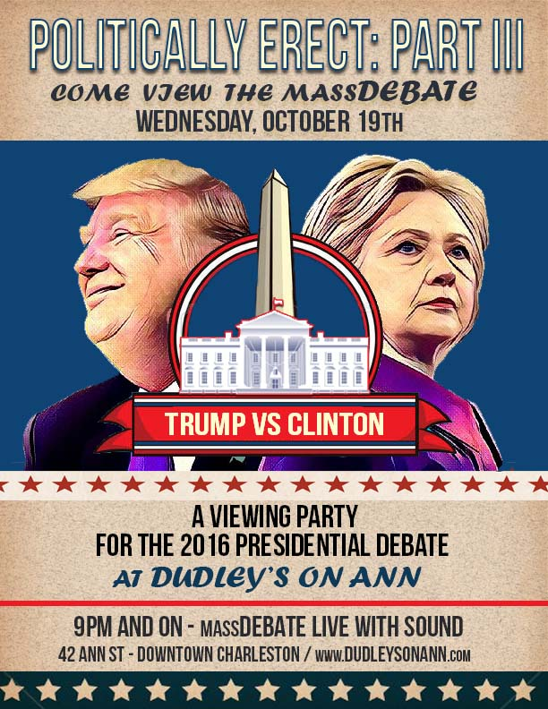 Presidential Debate Party Poster3