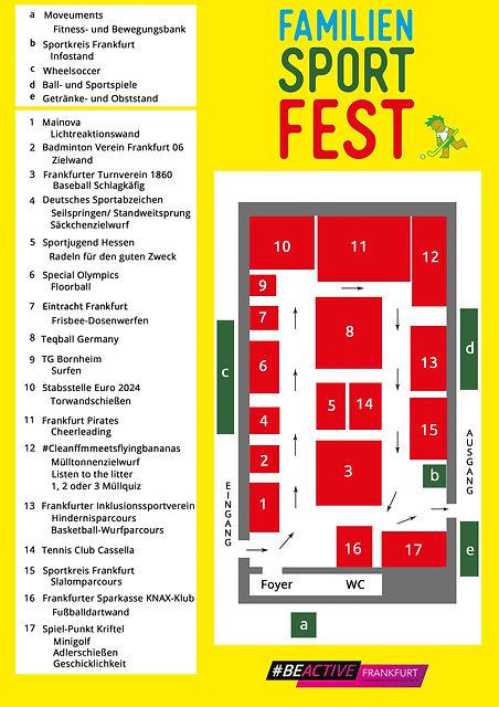 Stationsplan des 9. Frankfurter FamilienSportFest