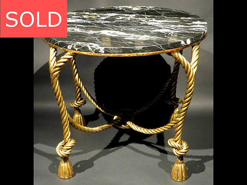 A Mid 20th Century Gilt Metal & Marble Topped Coffee Table, Italy Circa 1950